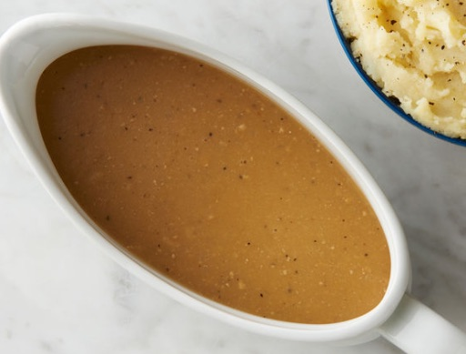 Photo of gravy in gravy boat